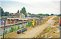 TQ2867 : Mitcham Junction station and Croydon Tramlink under construction, 1998 by Ben Brooksbank
