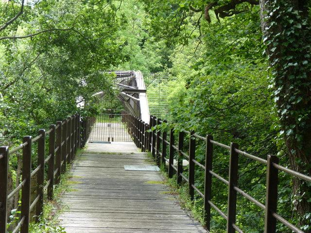 Pipe bridge over River Wear