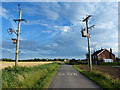 TF4655 : Power lines crossing Field Lane by Mat Fascione