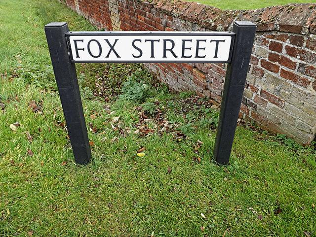 Fox Street sign