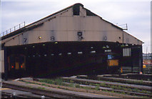 TQ2775 : Clapham junction shed, 1994  by Stephen Craven