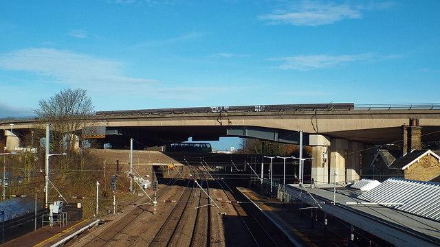 East Coast Main Line at Huntingdon