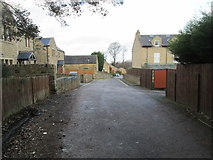 SE1321 : Vicarage Gardens - looking towards Ogden Lane by Betty Longbottom