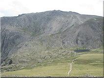 SH6358 : Llyn y Cwn below Glyder Fawr by Peter S