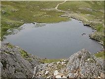 SH6358 : Looking down on Llyn y Cwn by Peter S