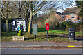 SP2754 : Notice board and post box on Dovehouse Drive by David P Howard
