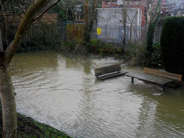 Sub-station and Floodwater at Forest Row