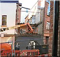 SJ8990 : Demolition work on Lower Hillgate by Gerald England