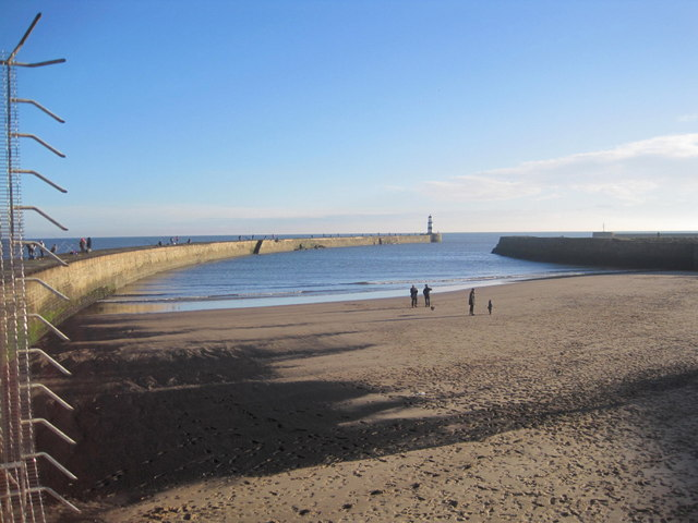 Beach and Outer Harbour, Seaham Harbour