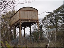 ST9897 : Redundant Water Tower Kemble Railway Station by Paul Best