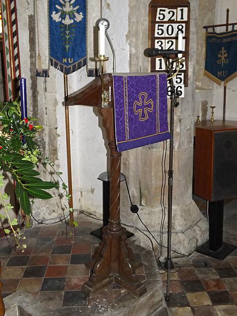 Lectern of St Peter and St Paul Church, Little Gransden