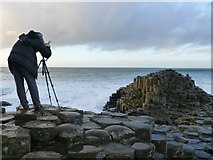 C9444 : A keen photographer, Giant's Causeway by Kenneth  Allen