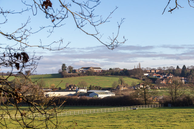 Farmland in Trent Park, London N14 by Christine Matthews