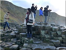 C9444 : Tourists, Giant's Causeway by Kenneth  Allen
