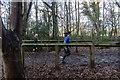 TQ2997 : Joggers in Trent Park, London N14 by Christine Matthews