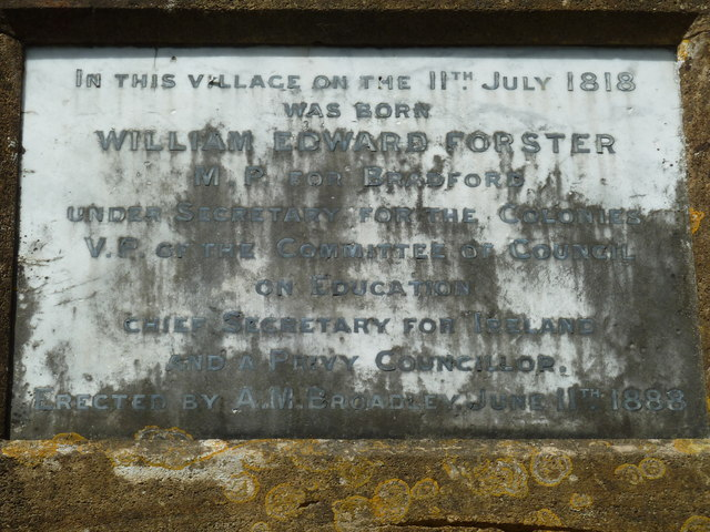 Bradpole: memorial to a favourite son