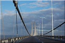 TA0224 : Crossing the Humber Bridge by Julian P Guffogg