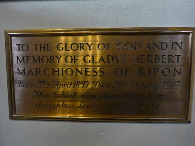 St Mary and St Nicholas, Wilton: memorial (1)