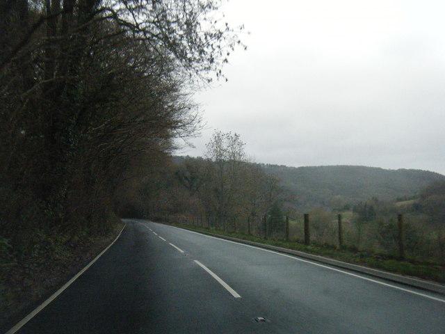 A466 east of Bargain Wood