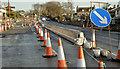 J3784 : Temporary footpath and cycle lane, Greenisland by Albert Bridge