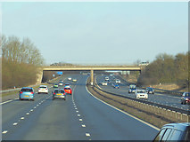 SP4795 : The M69 Northbound at Station Road by Ian S