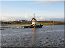 NS4870 : River Clyde and the tug Anglegarth by G Laird