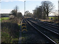 SE5318 : Looking south-east from Womersley level crossing by Alan Murray-Rust