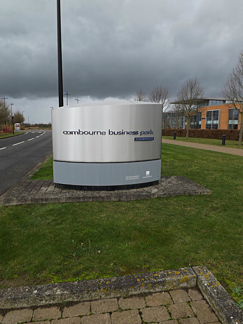 Cambourne Business Park sign