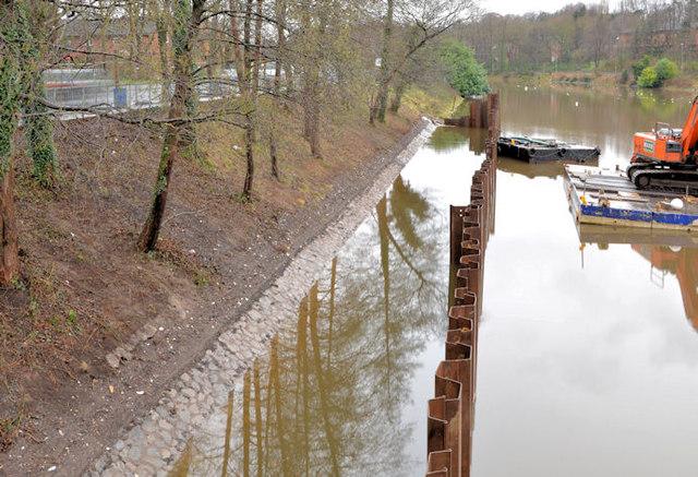 Riverbank repairs, Annadale, Belfast