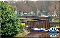 J3371 : Revetment works, River Lagan, Belfast (4 in 2013) by Albert Bridge