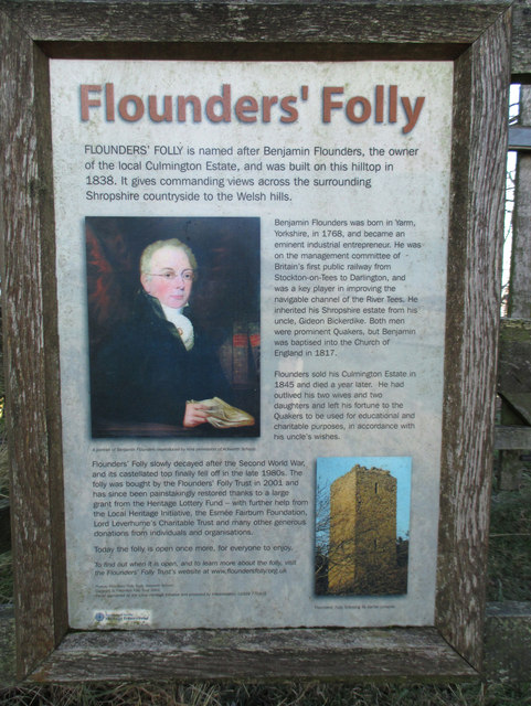 Information board for Flounders' Folly