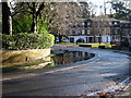 SZ0892 : Bournemouth: large puddle in St. Valerie Road by Chris Downer