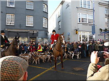 SO2914 : Part of Cross Street, Abergavenny on Boxing Day 2013 by Jeremy Bolwell