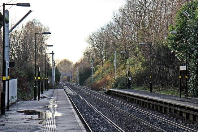 End of platforms, Eccleston Park railway station