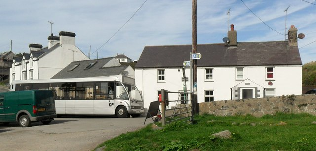 Bus waiting in Aberdaron