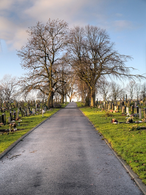 Path in Radcliffe Cemetery