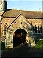 SO7433 : Porch of St Mary's Church, Bromesberrow by John Lord