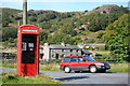 SD2195 : Telephone Box near Hall Bridge by Andy Deacon