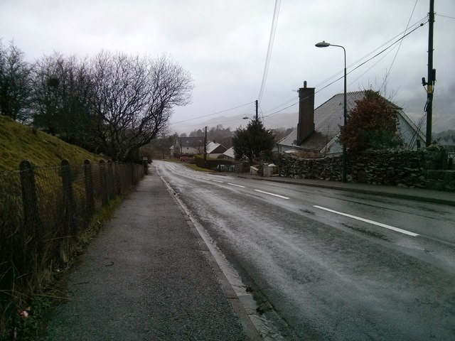 Ffestiniog on a wet New Year's Day