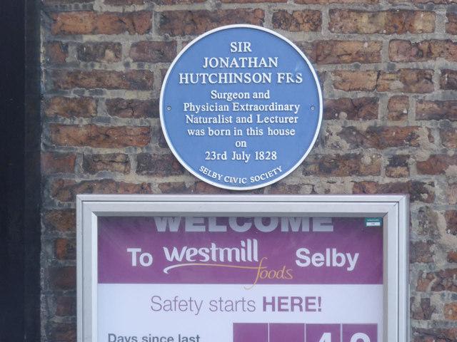 Blue plaque on Quay House