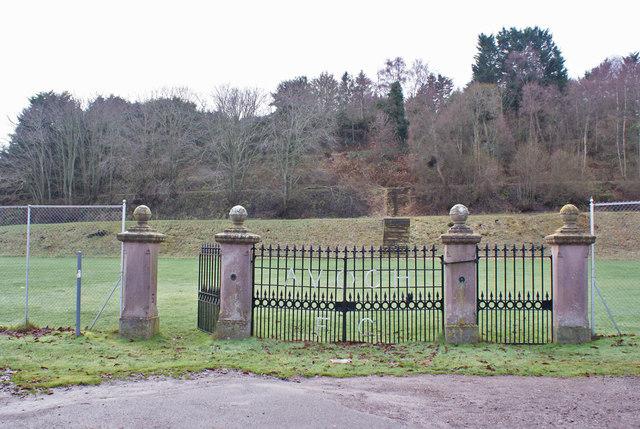 Entrance gates to Avoch Football Club