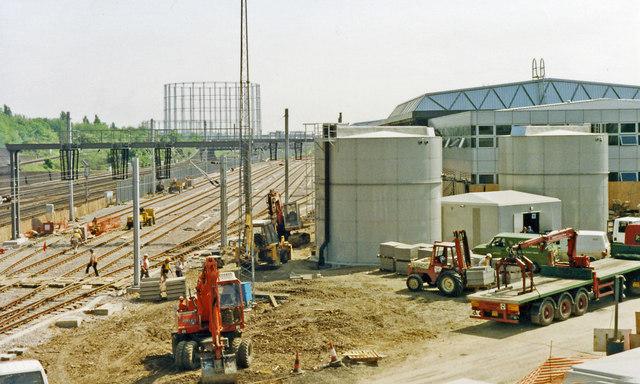 North Pole Eurostar Depot, under construction 1992