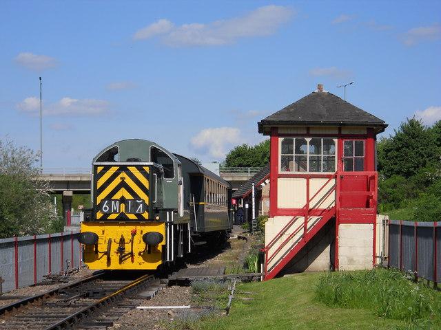 Diesel loco at Orton Mere station