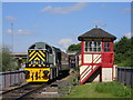 TL1697 : Diesel loco at Orton Mere station by Paul Bryan