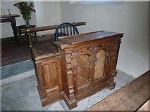ST5906 : St Edwold, Stockwood: prayer desk by Basher Eyre