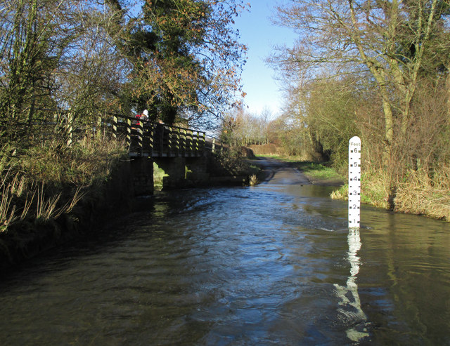 The ford at Quinny Brook south of Strefford