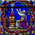 SK9771 : Job, Stained Glass, Lincoln Cathedral by Julian P Guffogg