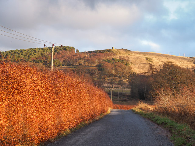 Minor road beneath Murrayshall Hill