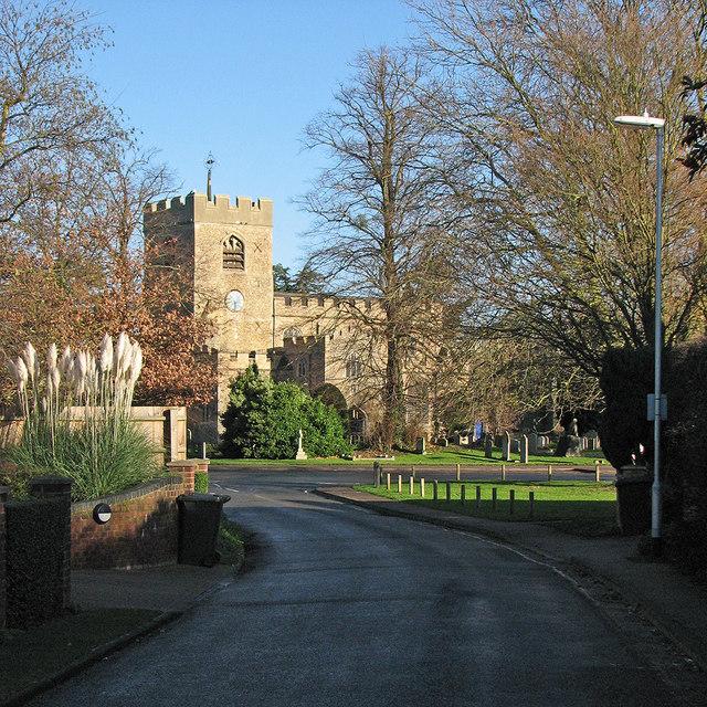 Girton: Church Lane and St Andrew's Church