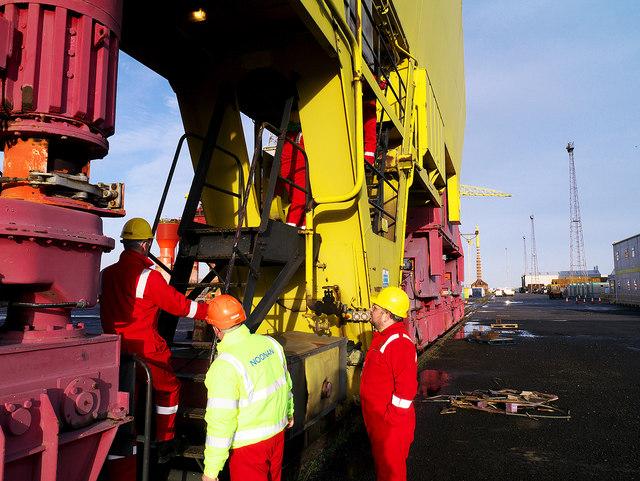 Entering the crane 'Samson', Belfast